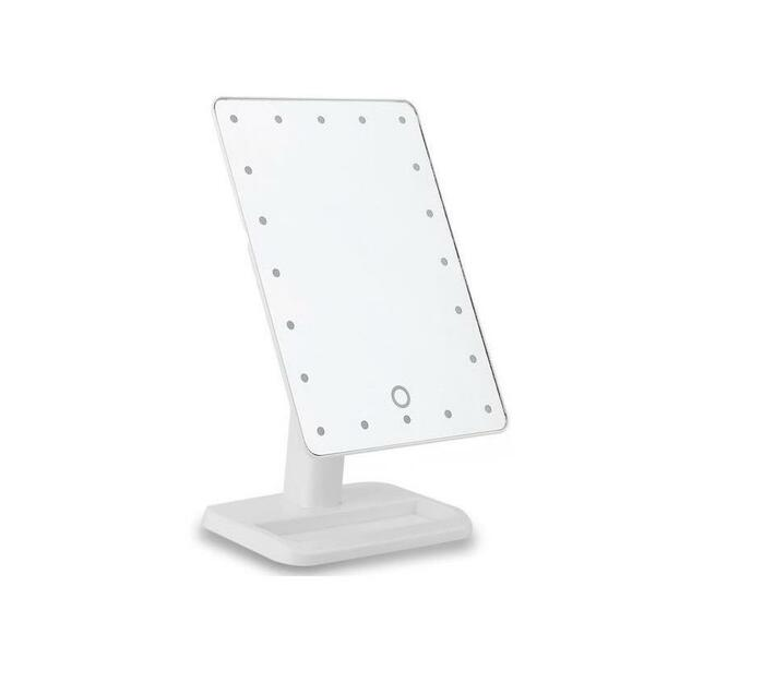 Touch Screen LED Light Make - Up Mirror - White