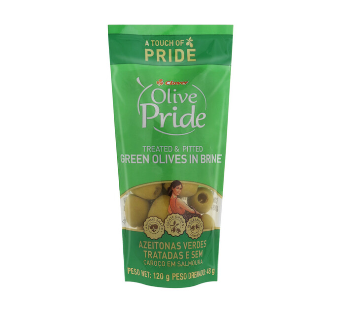 Olive Pride Olives Green Pitted (1 x 120g)
