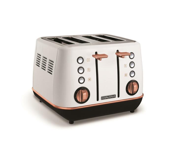 Morphy Richards 4 Slice Toaster White 1800W `Evoke Rose Gold