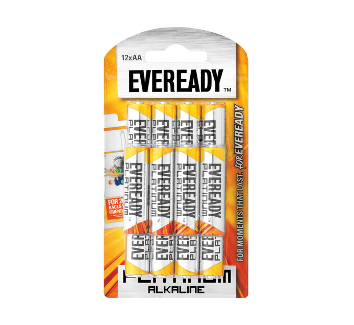 Eveready Platinum Alkaline AA Batteries 12-Pack