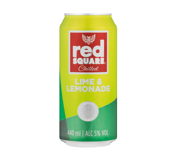 Red Square Chilled Lime And Lemonade (24 x 440ML)
