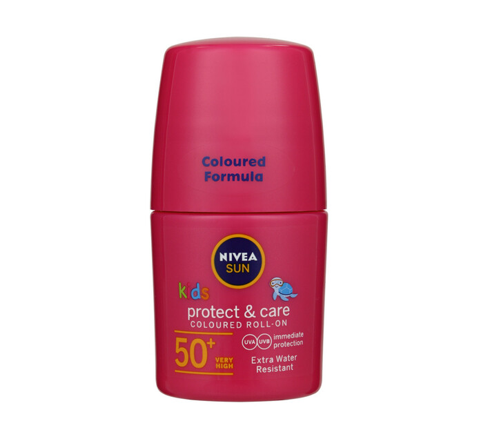 Nivea Nivea R/On Kids Colour Pink SPF50 (1 X 50ML)