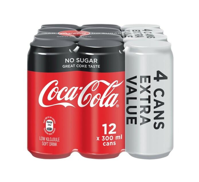 Coca Cola Soft Drink 8 + 4 Free (1 x 300ml)