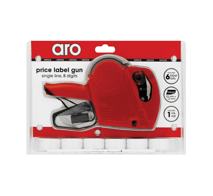 ARO 8 Digits Price Label Gun Single Line + Extra Roll Each
