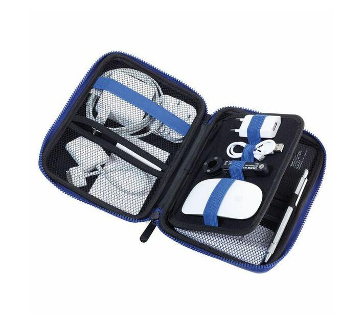 Troika Organiser Travel Case with Zipper Blue