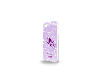 Whatever It Takes Tough Shield iPhone 4/4S Cover (Penelope Cruz Purple)