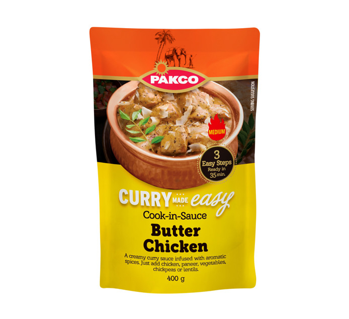 Pakco Curry Made Easy Cook In Sauce Butter Chicken (1 x 400g)