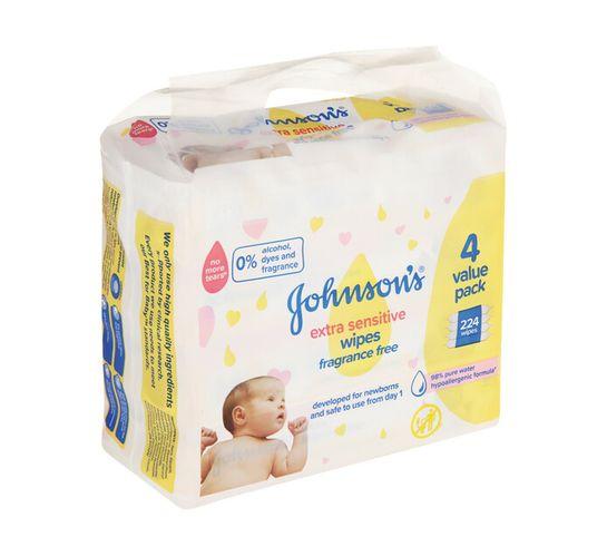 Johnson's Baby Wipes Extra Sensitive (1 x 288's)