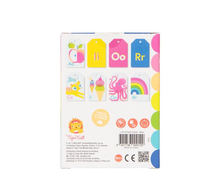 Tiger Tribe Alphabet Flash Cards- Neon
