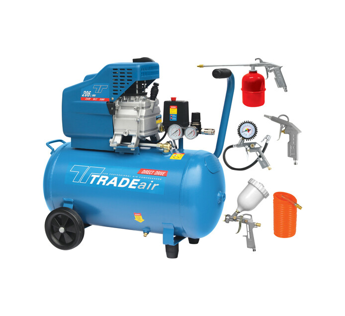 Tradeair 50l Direct Drive Air Compressor Kit
