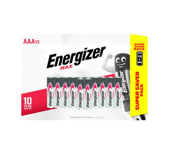 Energizer Max AAA Batteries 12-Pack