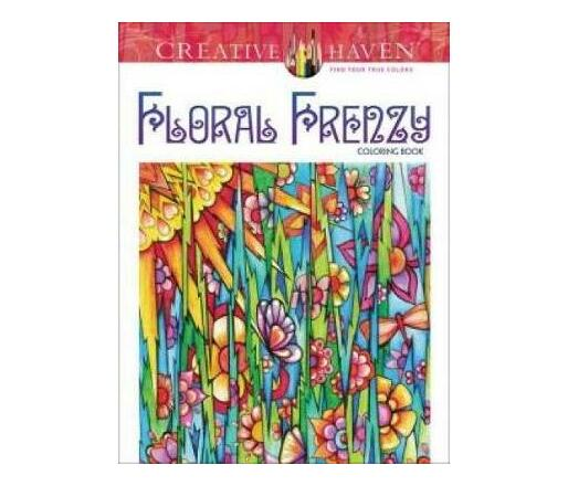 Creative Haven Floral Frenzy Coloring Book