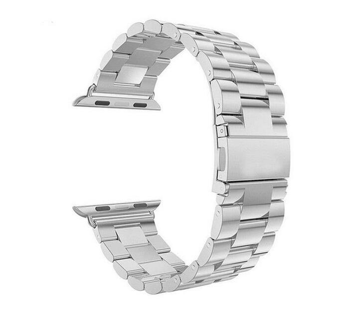38mm Apple Watch Strap by Zonabel - Silver Stainless Steel