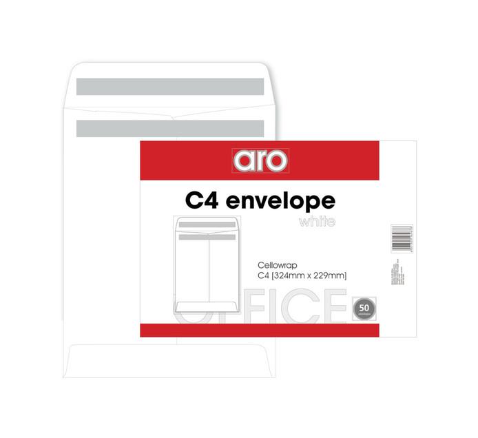 ARO C4 Seal Easi Envelopes White 50-Pack