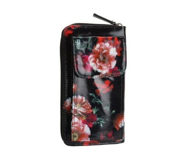 Oilskin Mobile Wallet - Dark Floral