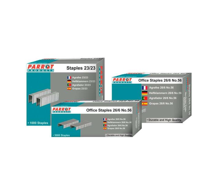 PARROT PRODUCTS Staples (Staple Size: 23/8, Box of 1000, 50 Pages)