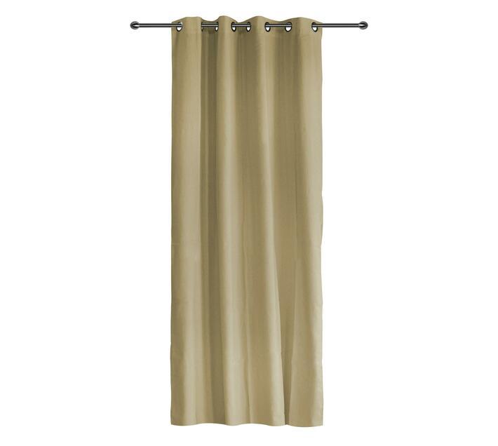 easyhome Panama Mocha eyelet curtain 140 x 260cm