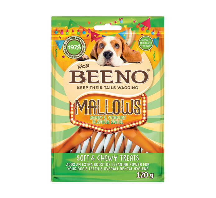 Beeno Moist Treats Rollies Honey & Yoghurt (20 x 120g)