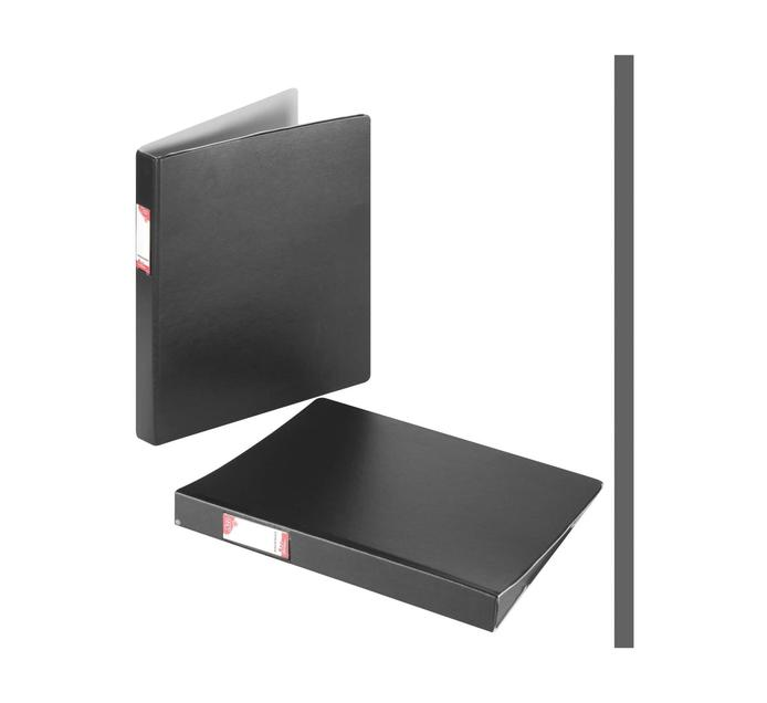 ARO A4 Ring Binder Black 2 Pack