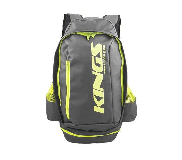 2619 Grey A-Symmetrical kings urban gear printed logo sports backpack