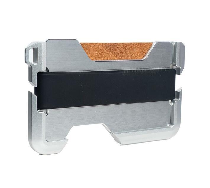 Aluminium Tactical Card Wallet w/ Opener (Brown)