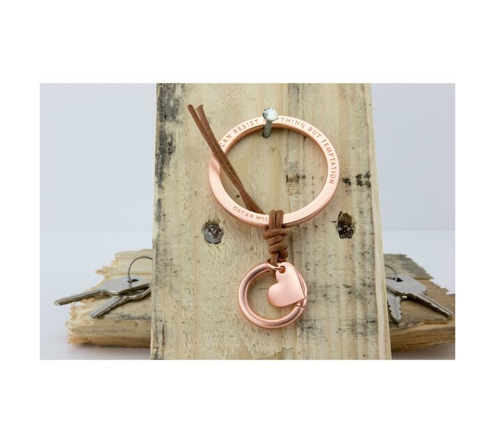 Troika Bag Charm with Two Charms Temptation Rose Gold