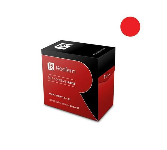 Redfern Self-Adhesive Colour Codes - C10 Red