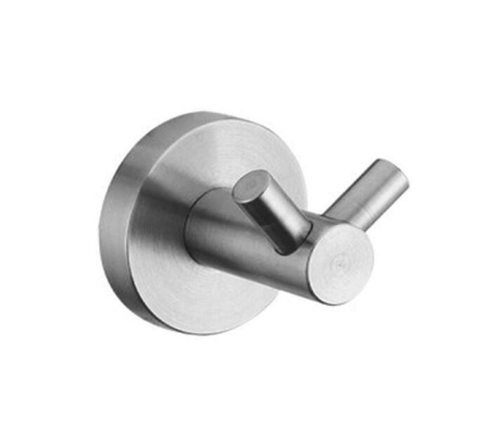 Fortis Stainless Steel Double Robe Hook Satin