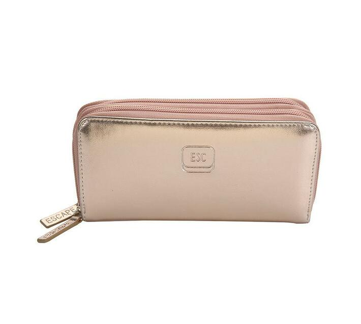 Two Zip Wallet - Rose Gold