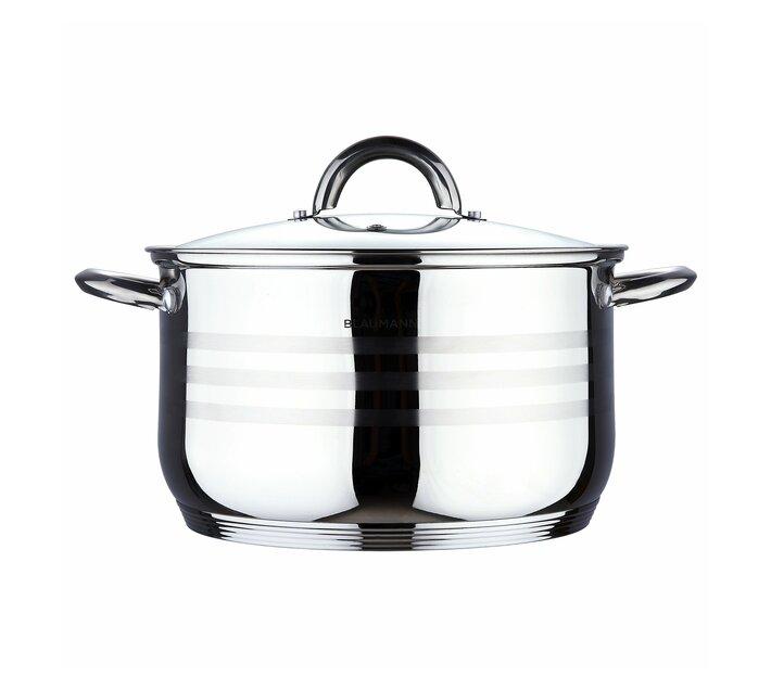 Blaumann 16cm Stainless Steel Casserole Pot Gourmet Line