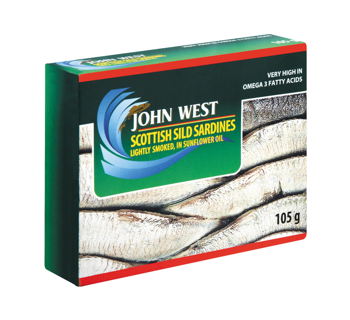 John West Sardines Slid Oil (1  x 105g)