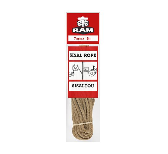 RAM 7 mm x 15 m Sisal Rope Hank
