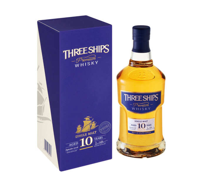 Three Ships 10 YO Malt Whisky (1 x 750 ml)