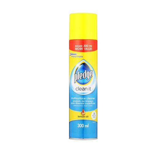 Pledge Multi Surface Cleaner Lemon Oil (1 x 300ml)