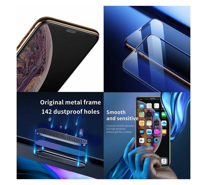 Baseus 0.3mm Dustproof Curved Glass Screen Protector iPhone 11ProMax/XS Max
