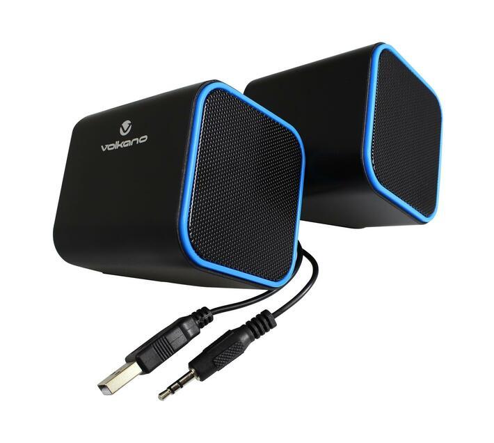 Volkano Diamond Series USB Powered Stereo Speaker - Blue