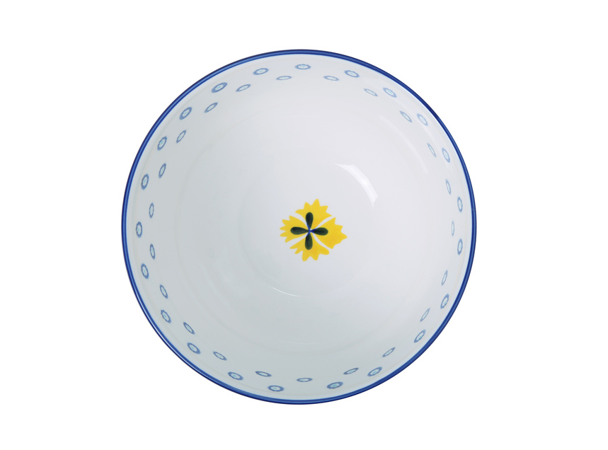 Ceramic Hand Painted 21cm Bowl - Navy Blue