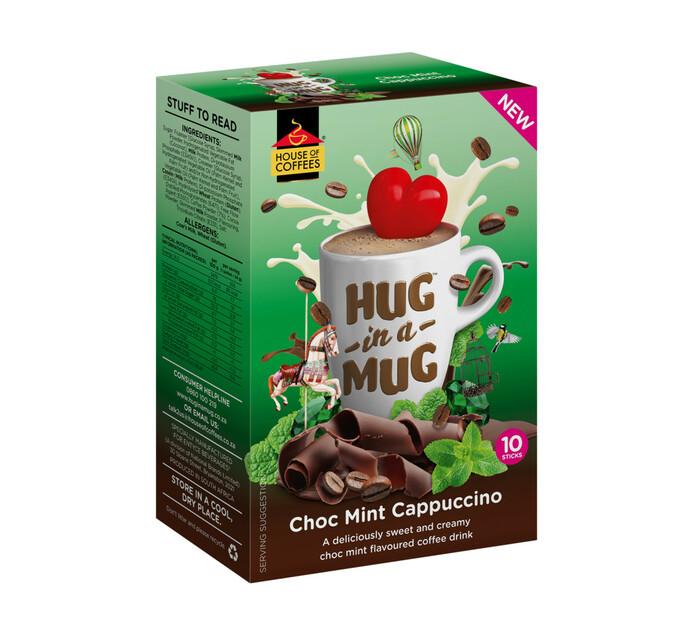 House Of Coffees Hug in a Mug Cappuccino Choc Mint (10 x 24g)