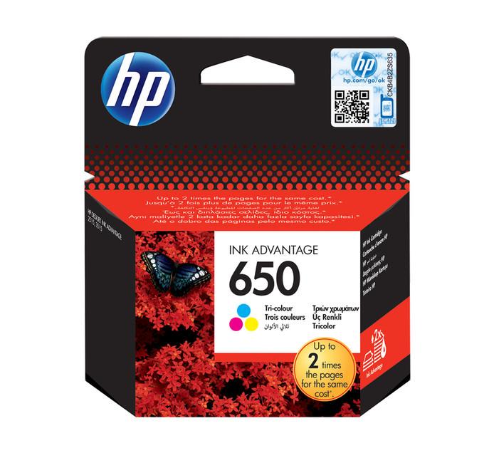 HP 650 Tri-Colour Ink Cartridge