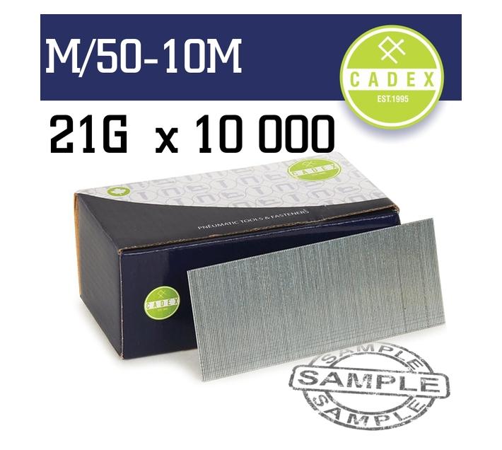 Cadex T50 Brad Nail 21g 50mm Galv 10000pce