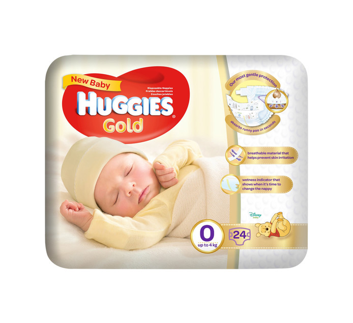 Huggies My First Nappies Size 0 (1 x 24's)