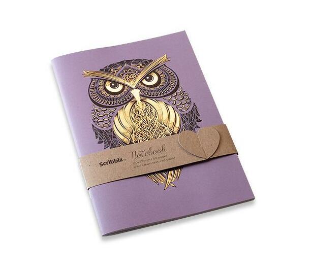 Scribblz A5 Owl Notebook