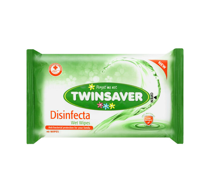 Twinsaver Hygiene Wipes Disinfecta (1 x 40's)
