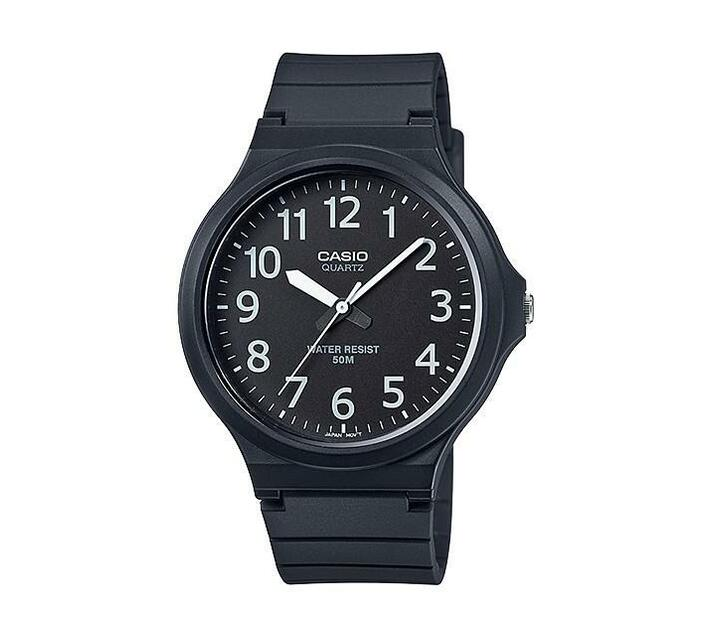 Casio Analog Black Resin Watch