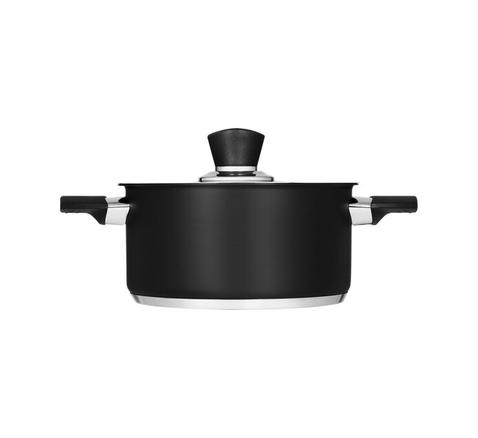 Legend 7-Piece Ebony Chef Stainless Steel Cookware Set