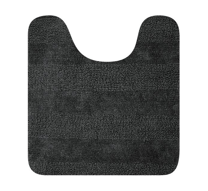 Home Living 55 x 55 cm Luxor Reversible Pedestal Mat Charcoal