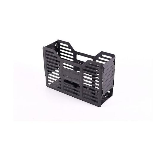 A4 Recycled Slatted Plastic Container - 10 Pack - Black