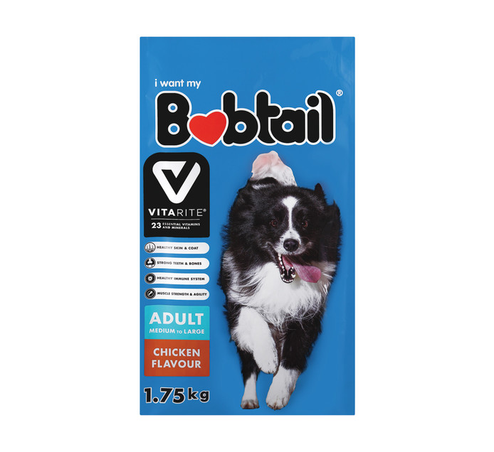 Bobtail Dry Dog Food Large Chicken (1 x 1.75kg)