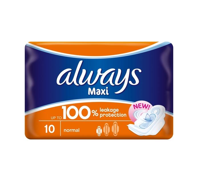 Always Sanitary Pads Maxi Plus (4 x 10's)