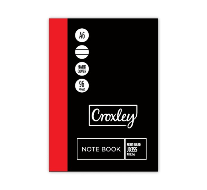 Croxley A6 Notebook 96 Page 6 Pack